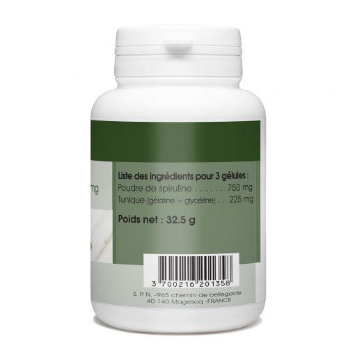 acheter Spiruline gelule 100 gelules pas cher